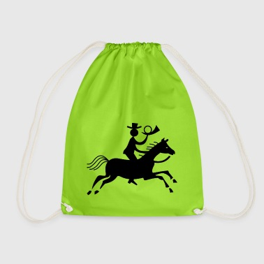 Post courier horse horse rider rider courier - Drawstring Bag