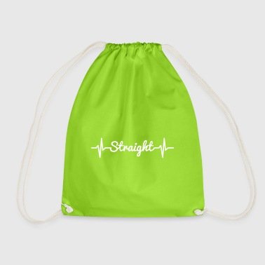 Pulse Straight White - Drawstring Bag