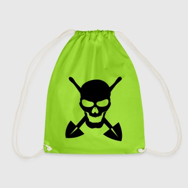 Skull digging shovel scoop gift idea - Drawstring Bag