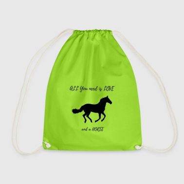 Sweet horses design - Drawstring Bag