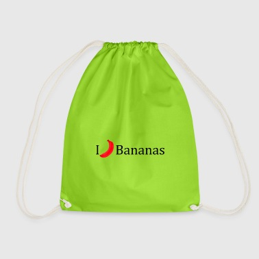I love bananas vegan gift idea fruit - Drawstring Bag
