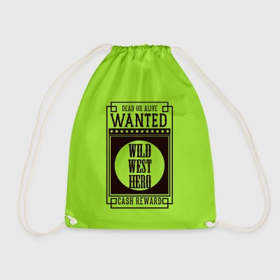 WANTED DEAD OR ALIVE - WILD WEST HERO Black - Drawstring Bag