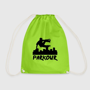 Free running in the city, parkour - Drawstring Bag