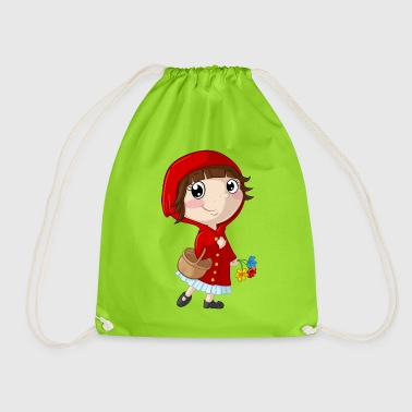 Little Red Riding Hood cartoon - Drawstring Bag