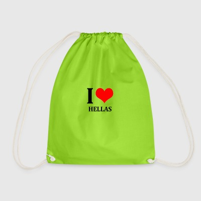 I Love Hellas - Drawstring Bag