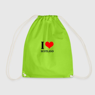 I Love Scotland - Drawstring Bag