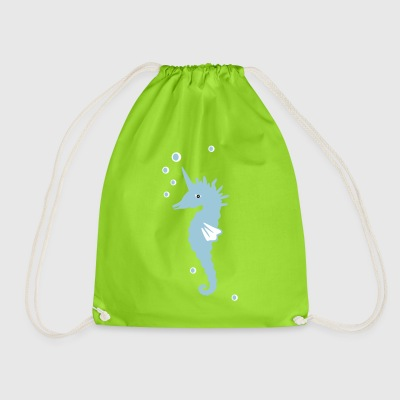 sea ​​unicorn - Drawstring Bag