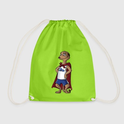 mermaid surikate meerkat animal animals - Drawstring Bag