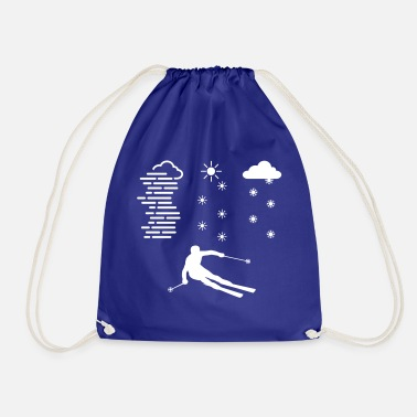 Spread skiing in any weather - Drawstring Bag