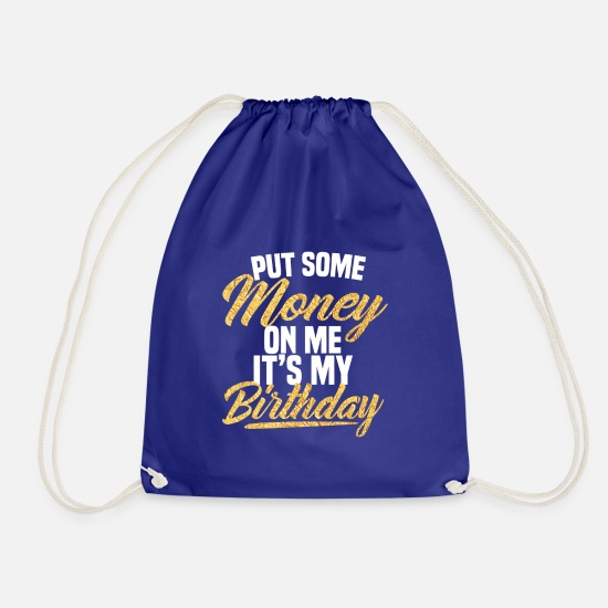 Birthday Bags & Backpacks - Birthday - Drawstring Bag royal blue