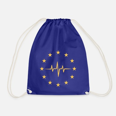 Pulse of Europe, EU Stars, European Union - Drawstring Bag
