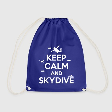 keep calm and skydive - Sacca sportiva