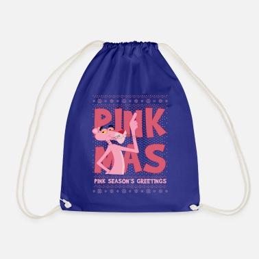 Pink Panther Pink Xmas Season's Greetings - Drawstring Bag