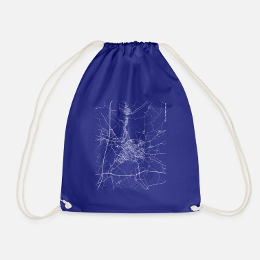 Set25 Minimal Ferrara city map and streets - Drawstring Bag