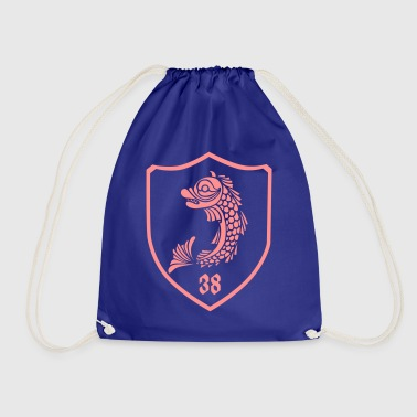 grenoble, dolphin blazon 38 - Drawstring Bag