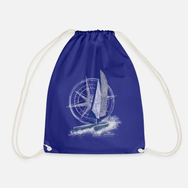 Garda Lakers catamaran compass - Drawstring Bag