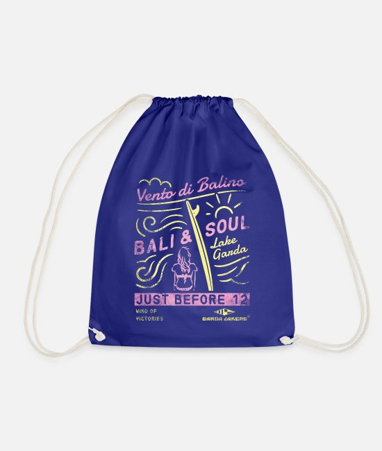 Sail Boat Bags & Backpacks - Garda Lakers Bali & Soul - Drawstring Bag royal blue