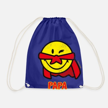 SmileyWorld Papa Superhero - Drawstring Bag