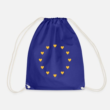 Europa Europa Herzen, Pulse of EU, I love Europe, Flagge - Turnbeutel