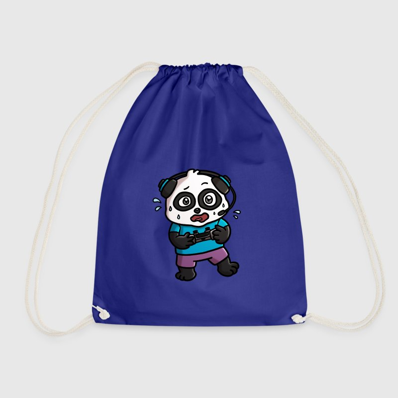 Noob Gamer Panda - Drawstring Bag