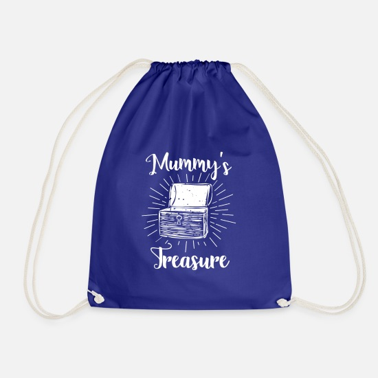 Mother Bags & Backpacks - Mami's Pot of Gold - Mummys Treasure - Drawstring Bag royal blue