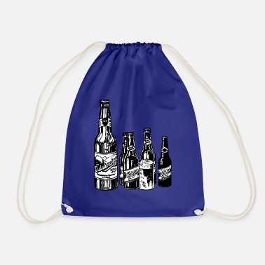 Black And White Collection Black and white design on beer collection. - Drawstring Bag