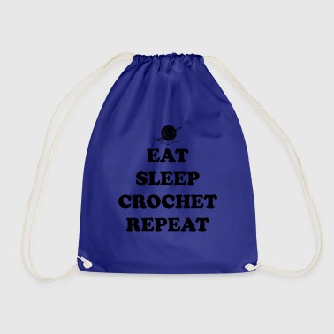 eat sleep crochet - Gymtas