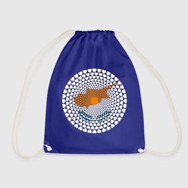 Cyprus Cyprus Κυπριακή Kıbrıs Love HEART Mandala - Drawstring Bag