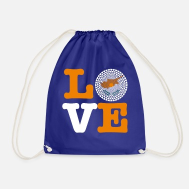 Cyprus Cyprus Cyprus Κυπριακή Kıbrıs Love HEART Mandala - Drawstring Bag