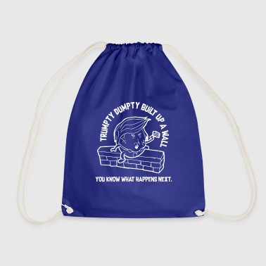 Donald Trump build a wall wall - Drawstring Bag