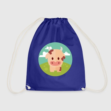 Cow on meadow - Drawstring Bag