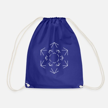 Hexagon Minimalist hexagon - Drawstring Bag