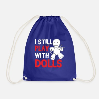 Voodoo Doll Playing with dolls - Voodoo doll - Drawstring Bag
