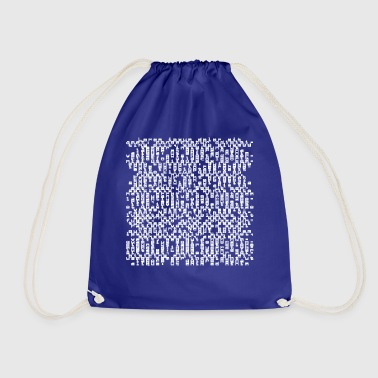 typography - Drawstring Bag