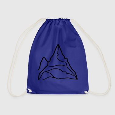 Mountain Alps summit mountaineering - Drawstring Bag