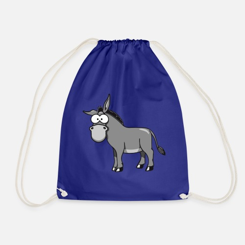 donkey humorous silly animal funny nature fourteen Drawstring Bag ... 385ede317f18d