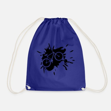 Graffiti kelcks bike color drops splashes graffiti fah - Drawstring Bag
