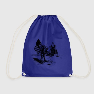 Moon To the moon. moon - Drawstring Bag