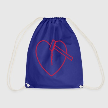 Heartbreaker outline - Drawstring Bag