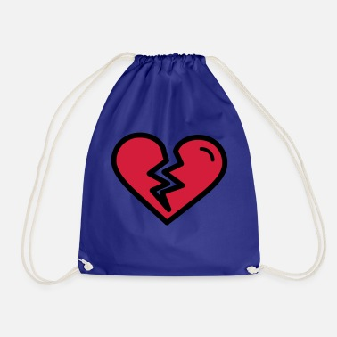 Heartache Broken heart, heartache sadly in love - Drawstring Bag