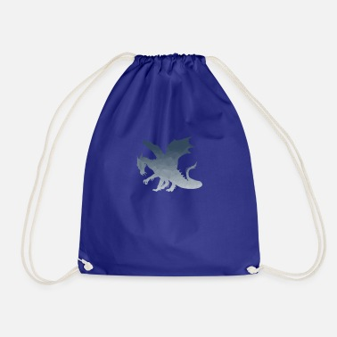 Fable Dragon fable mandala style gift - Drawstring Bag