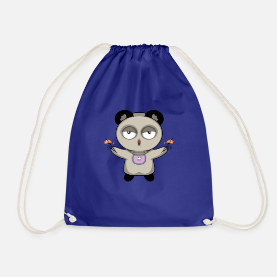 Panda Bags & Backpacks - Panda - Drawstring Bag royal blue