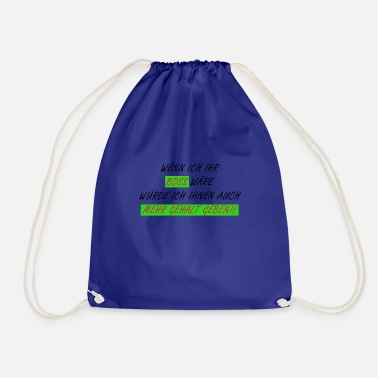 Salary Boss More salary - Drawstring Bag