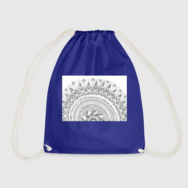 Mandala Around Half Moon - Drawstring Bag