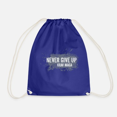 never give up - Drawstring Bag