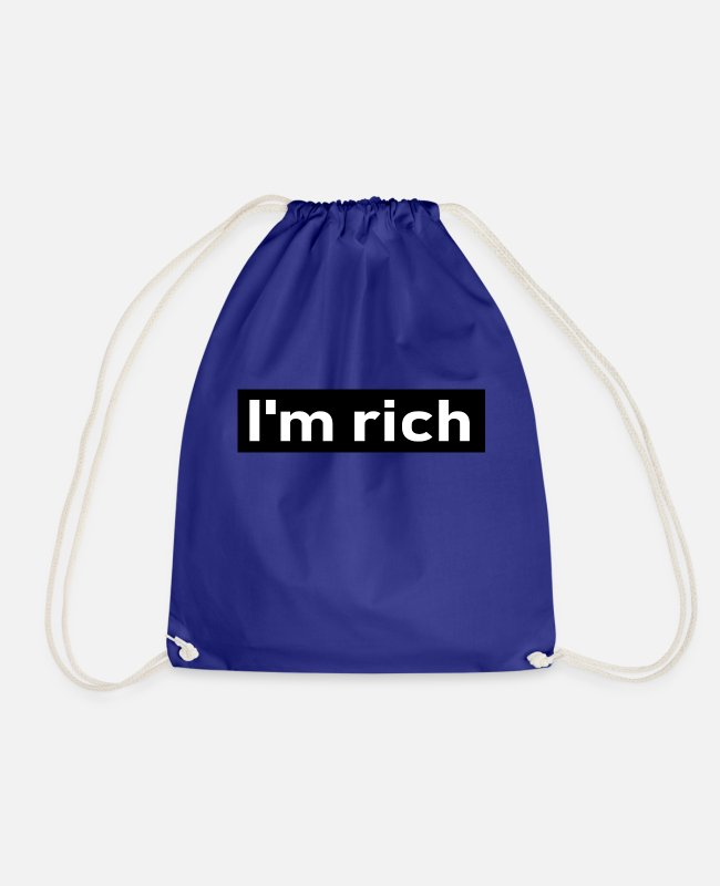 Money Bags & Backpacks - rich - Drawstring Bag royal blue