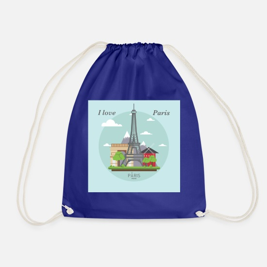 Travel Bags & Backpacks - I love Paris - Drawstring Bag royal blue