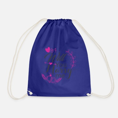 will you marry me - Drawstring Bag