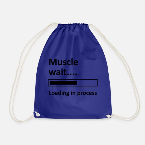 Body Builder Bags & Backpacks - muscle - Drawstring Bag royal blue