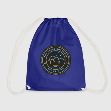 The wilderness is calling - Drawstring Bag